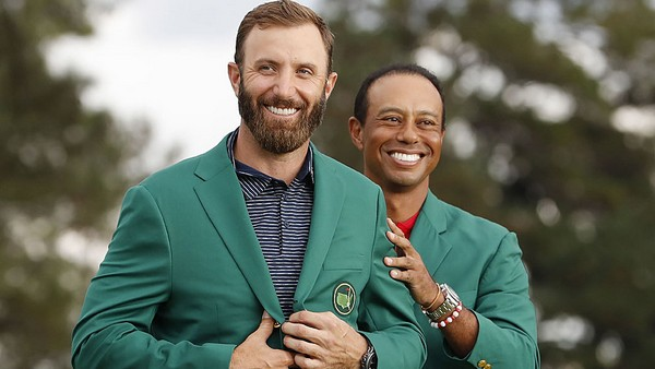 Dustin Johnson borra el récord de Tiger Woods en el Masters de Augusta